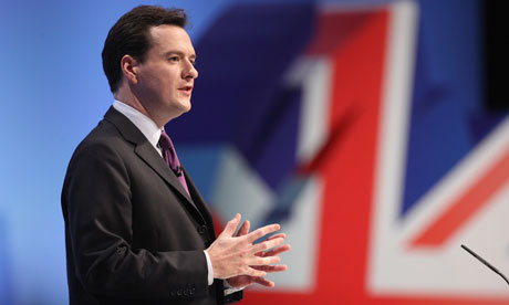 George Osborne speaks at the Conservative conference