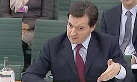 George Osborne appearing before the Treasury committee on 29 March 2011