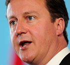 David Cameron, who will urge public sector workers not to strike