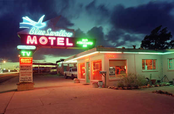 Blue Swallows Small Town America Swallows Motel Highway