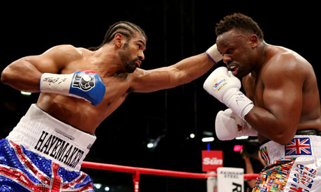 David Haye in action against Dereck Chisora