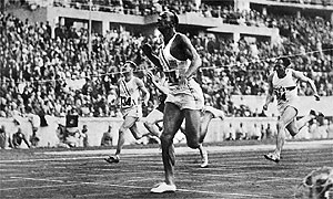 Jesse Owens' 100m world record lasted 20 years. Photograph: Corr/AFP/Getty Images