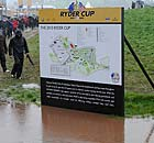 Play is suspended at the Ryder Cup