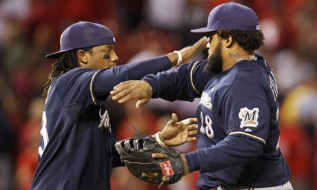Milwaukee Brewers Rickie Weeks and Prince Fielder
