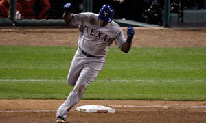 World Series: Adrian Beltre home run for Texas Rangers