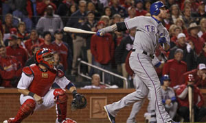 World Series: Texas Rangers' Josh Hamilton home run
