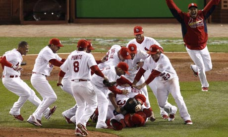St Louis Cardinals win World Series