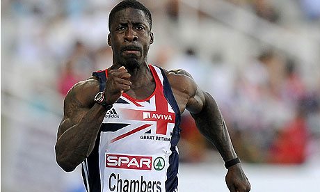 Great Britain's Dwain Chambers competes