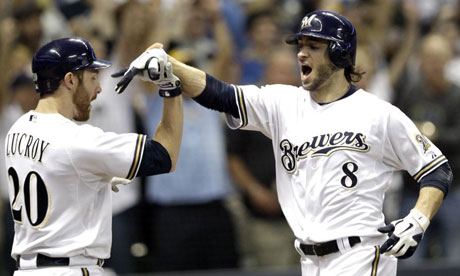 Milwaukee Brewers' Ryan Braun and Jonathan Lucroy
