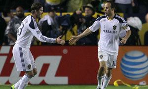 David Beckham and Landon Donovan, LA Galaxy vs. Houston Dynamo