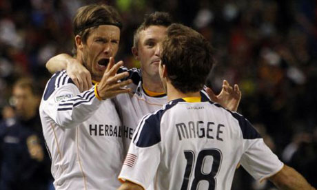 LA Galaxy: Beckham, Keane and Magee