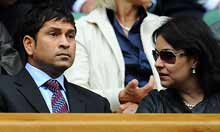 Sachin Tendulkar in the Royal Box on Centre Court