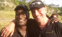 Sir Viv Richards and Lord Mike Selvey