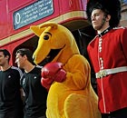 The Australian Boxing Kangaroo mascot during One-Year-To-Go milestone celebrations in Sydney