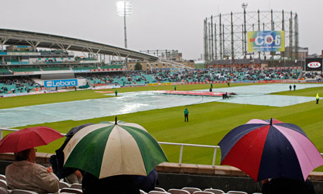 Rain stops play at The Oval