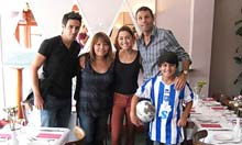 Vicente, Poyet and a kid in a Brighton shirt