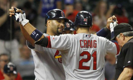 St. Louis Cardinals Allen Craig and Albert Pujols