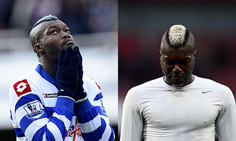 The blue hair of Djibril Cissé