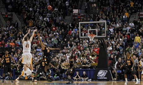 Wichita State University's Garrett Stutz vs VCU. March Madness