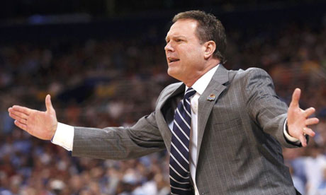 Kansas Jayhawks head coach Bill Self