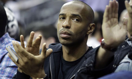 Thierry Henry at the Nets