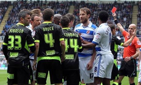 The Leeds and Reading players