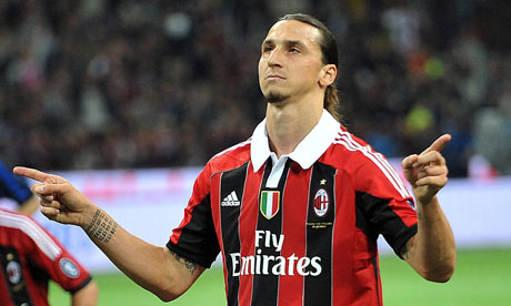 Ibrahimovic celebrating
