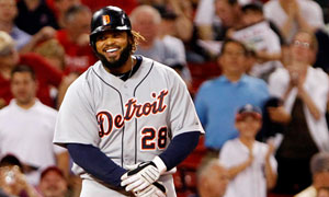 Detroit Tigers Prince Fielder smiles