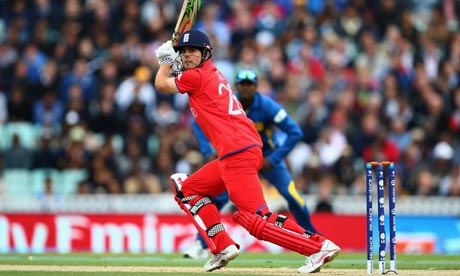 Alastair Cook in action for England during the Champions Trophy