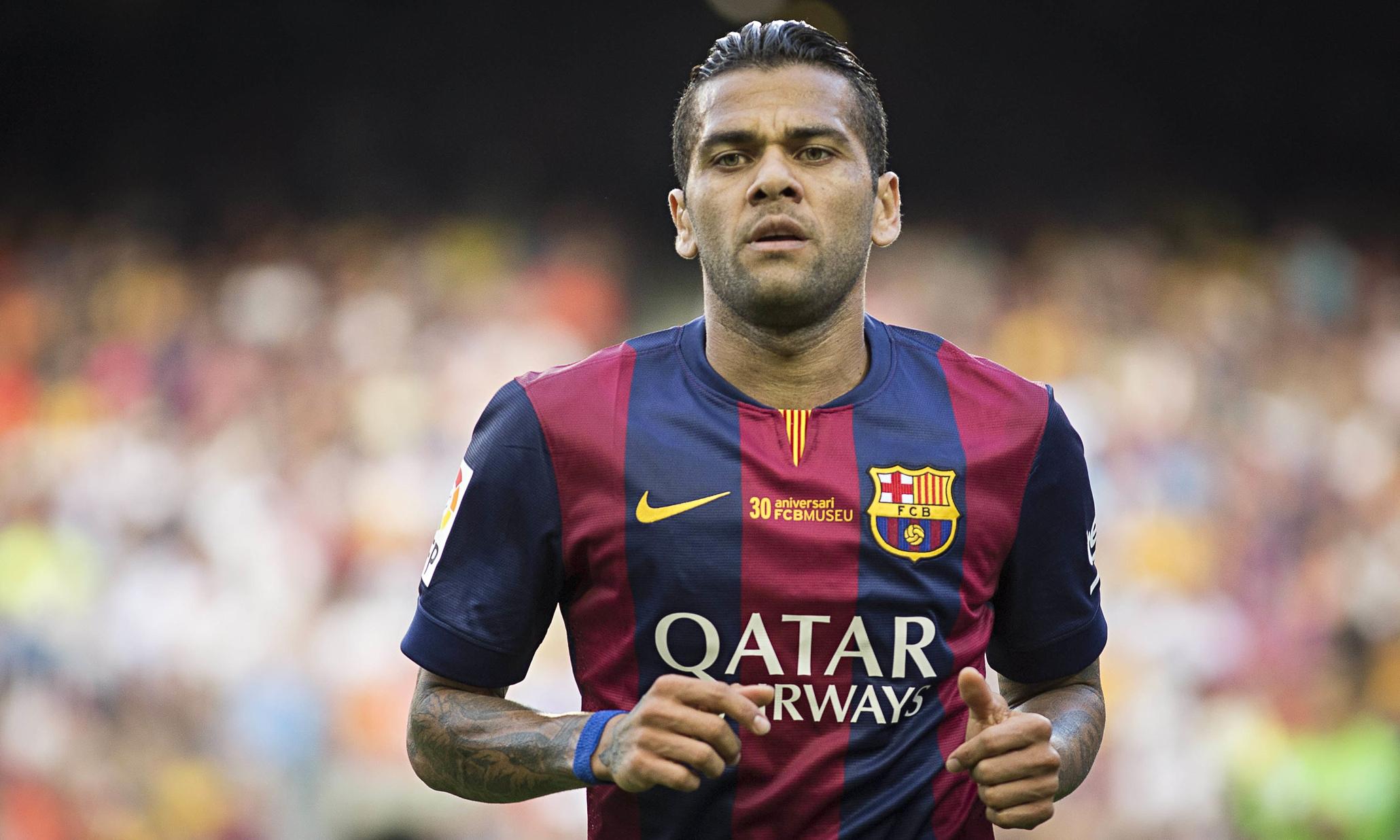 Former FC Barcelona and Current Juventus RB Dani Alves ...  Dani Alves Barcelona