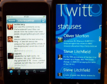 Windows Phone 7 v iPhone for Twitter