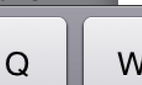 iPad 2 keyboard detail