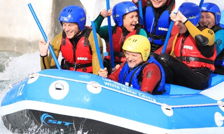 Andy Healey at the Lee Valley White Water Centre