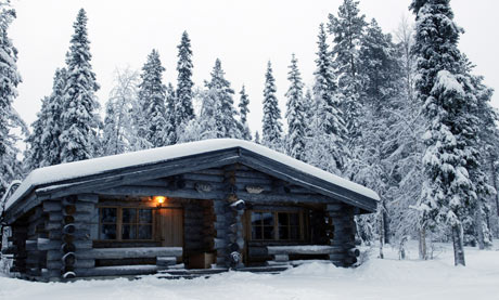 Hotel log cabins in Yllas, Lapland