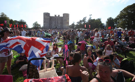 Camp Bestival takes place at Lulworth Castle, Dorset