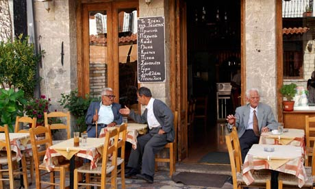 Local cafe in the village of Dimitsana in Arcadia, Greece