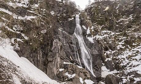 Pistyll Rhaeadr waterfall, known locally as Aber falls.