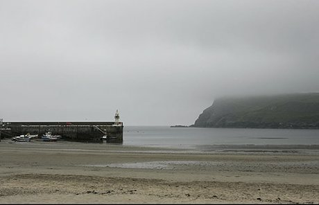 Port Erin beach and pier, Isle of Man