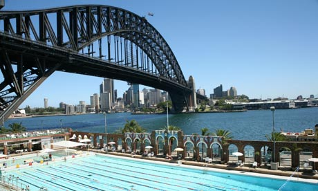 North Sydney Olympic Pool and Harbour Bridge