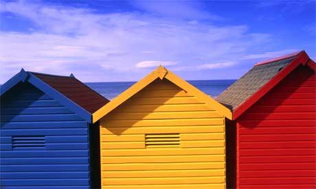 Designer huts bring California dreaming to Boscombe beach | UK news | The Guardian
