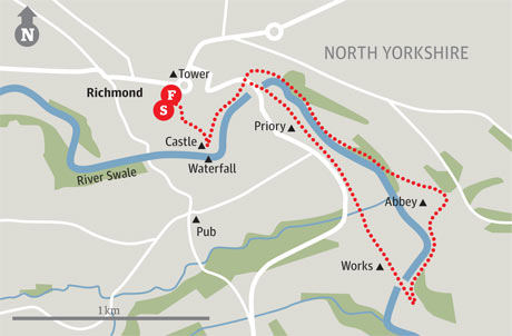 Map of Richmond walk