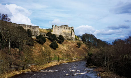 Richmond Castle and the River Swale, North Yorkshire