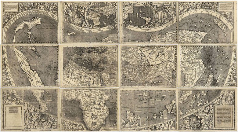Maps through the ages in pictures travel theguardian consisting of 12 woodblocks each showing a different section of the world the waldseemller map named after its principal draftsman is roughly 8ft by gumiabroncs Gallery