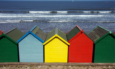 Beach huts on the North Yorkshire coast