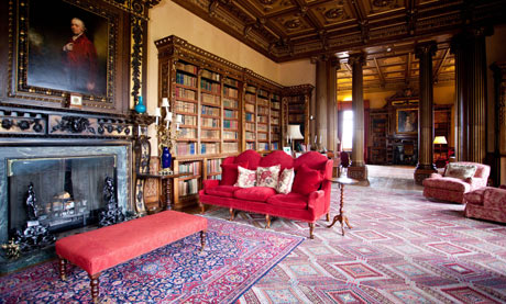 The Double Library at Highclere Castle, Berkshire