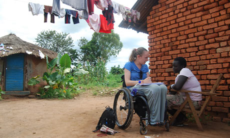 Lucy Robinson working in Uganda with Vitality