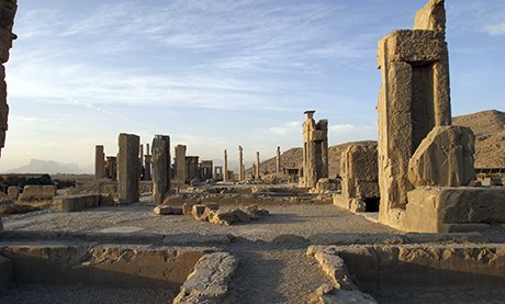Ruins around a Apadana Palace in Persepolis