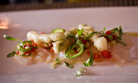 Scallop ceviche at the Edgewater, Seattle