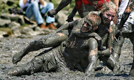 Mud Olympics in Brunsbuttel, Germany