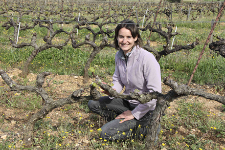 Sandrine Feraud at Domaine de l'Estagnol winemaker, France